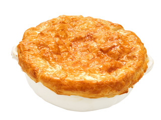 meat potpie isolated