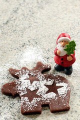 Weihnachtskeks Elch mit Weihnachtsmann, Teig