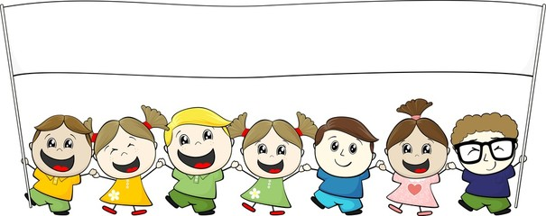 little children banner illustration