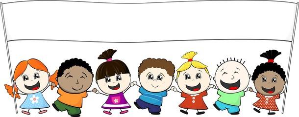 childs banner together