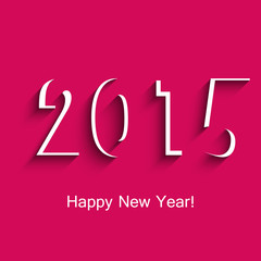 Happy new year greeting card for 2015 creative vector illustrati