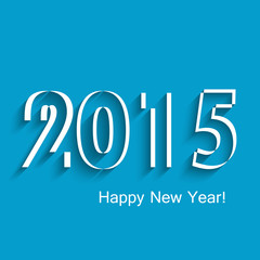 Happy new year 2015 creative greeting card blue colorful backgro