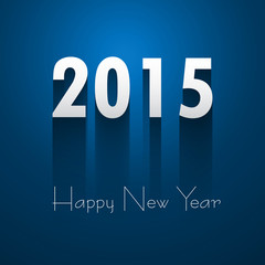 Happy New Year 2015 beautiful blue reflection colorful design