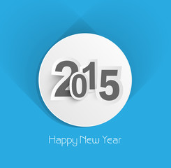 Beautiful creative blue colorful new year 2015 background vector