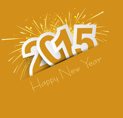 Celebration for new year 2015 colorful vector illustration