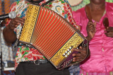 accordéon diatonique du folklore rodriguais