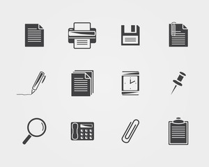 Office icons.Black icons