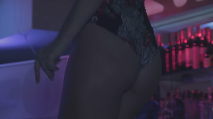 Close-up sexy female booty shaking erotically, Go-Go dancing