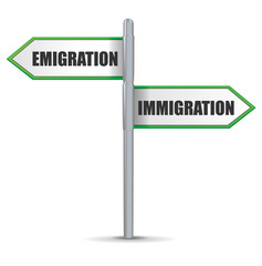 paneau : emigration - immigration
