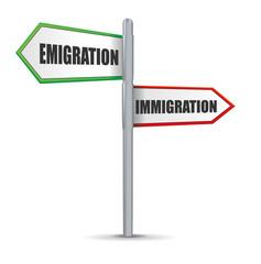 paneau : émigration - immigration