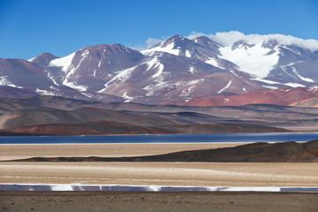 Black lagoon (Laguna Negra), volcano Pissis, Catamarca, Argentin