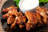 Baked chicken wings in the Asian style
