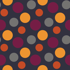 Vector Pattern with polka yellow,grey,purple dots