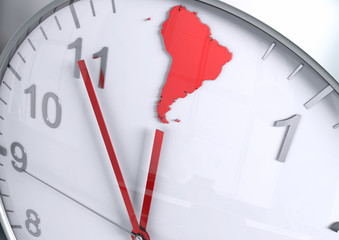 South America continent countdown