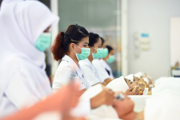 class of beauty and spa in university,thailand