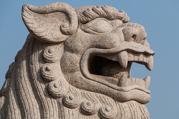 Chinesischer Löwe Steinfigur