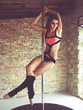 canvas print picture - Pole dancer