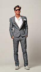 El estilo original de un hombre fashion.