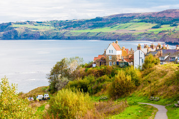 Robin Hood's Bay in North Yorkshire, UK