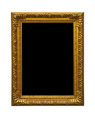 Antique golden old picture frame