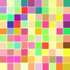 Abstract background with cubes of different colors. Raster