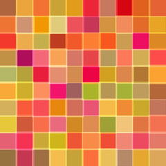 Abstract background with cubes of red color. Raster