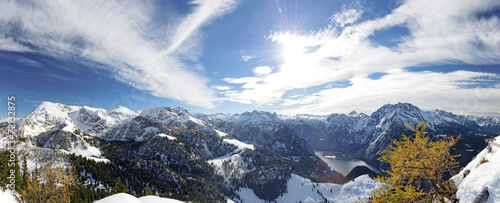 canvas print picture panorama_koenigssee_jenner_autumn