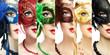 Woman in mysterious Venetian mask