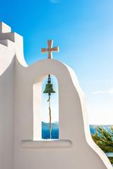 Original bell tower of small chapel in Mykonos