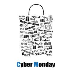 Cyber Monday shopping bag