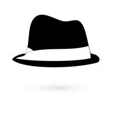 Icon black hats. Raster.