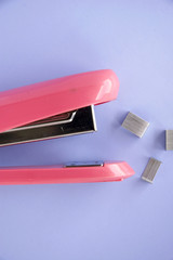 close up stapler