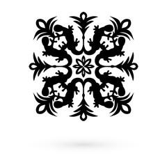 Icon snowflakes. Raster.