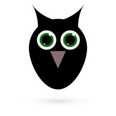 Icon owls. Raster.