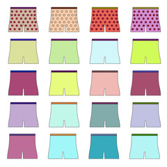 Collection of icons shorts. Raster