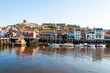 Scenic view of Whitby city and abbey in North Yorkshire, UK - 72133455