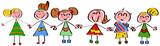 Fototapety Bambini felici in fila
