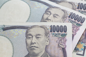 Close - up Japanese yen banknote  for finance concept