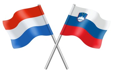 Flags: Luxembourg and Slovenia