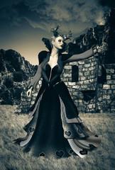 donna demone e rituale magico