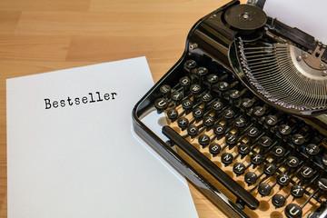 Antike Schreibmaschine, Bestseller Wort