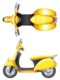 Fototapety A yellow scooter