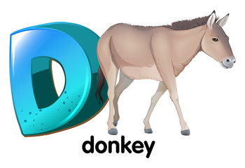A letter D for donkey