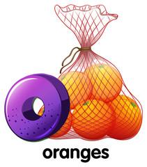 A letter O for oranges