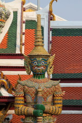 Green Ggant sculpture in Grand Palace, Thailand