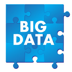 Big Data on blue puzzle