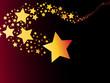 shooting star comet vector illustration