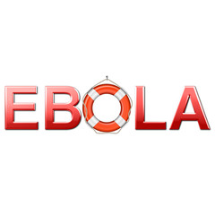Ebola con simbolo salvagente