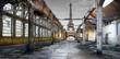 canvas print picture - Paesaggio di Parigi post apocalittico