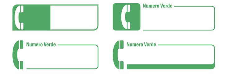 Numero verde set